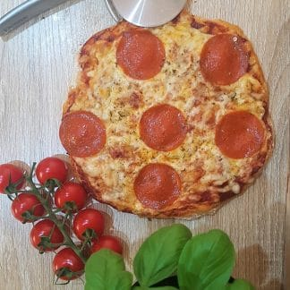 ready made pepperoni keto protein pizza
