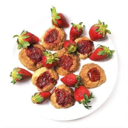 keto cookies with strawberry jam